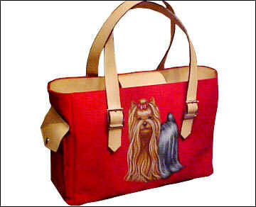 Red Painted Handbag